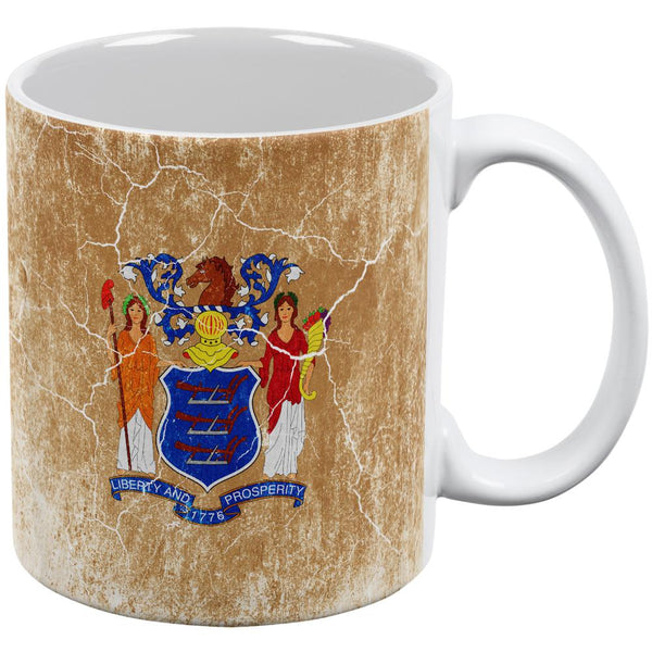 New Jersey Vintage Distressed State Flag All Over Coffee Mug