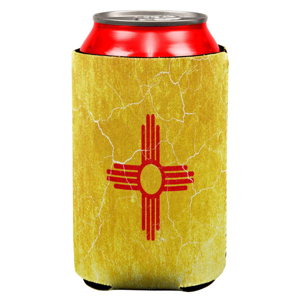 New Mexico Vintage Distressed State Flag All Over Can Cooler