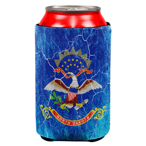 North Dakota Vintage Distressed State Flag All Over Can Cooler