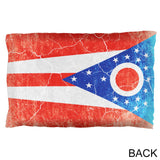 Ohio Vintage Distressed State Flag Pillow Case