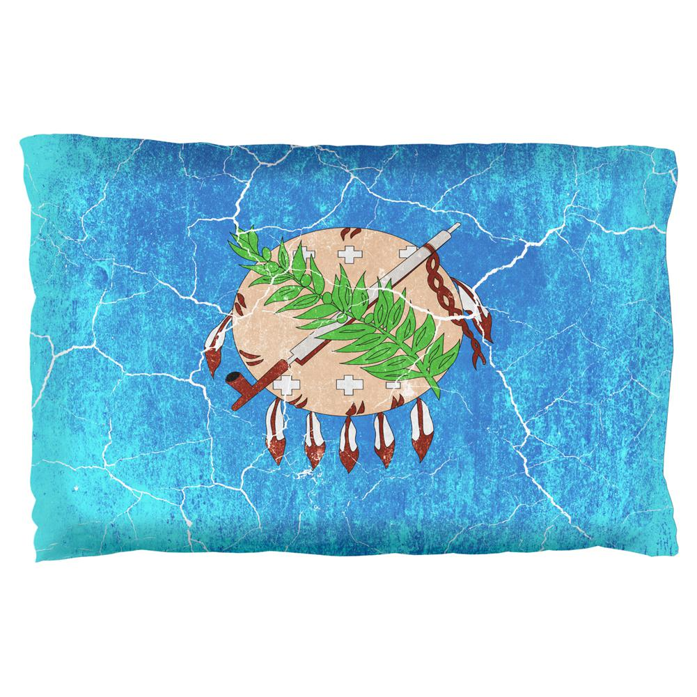 Oklahoma Vintage Distressed State Flag Pillow Case Old Glory