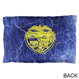 Oregon Vintage Distressed State Flag Pillow Case