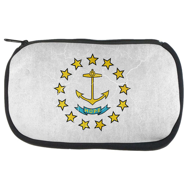 Rhode Island Vintage Distressed State Flag Travel Bag