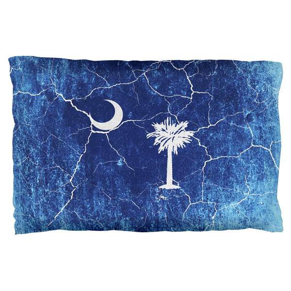 South Carolina Vintage Distressed State Flag Pillow Case