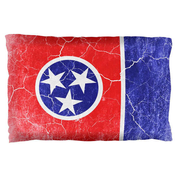 Tennessee Vintage Distressed State Flag Pillow Case