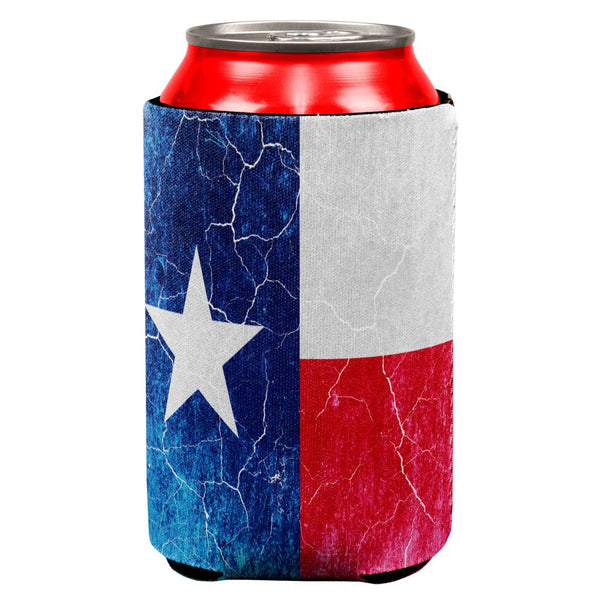 Texas Vintage Distressed State Flag All Over Can Cooler