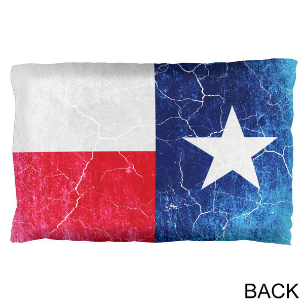 Texas Vintage Distressed State Flag Pillow Case
