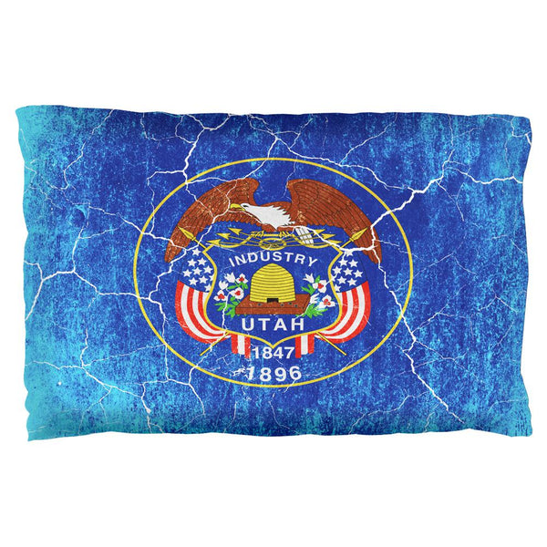 Utah Vintage Distressed State Flag Pillow Case