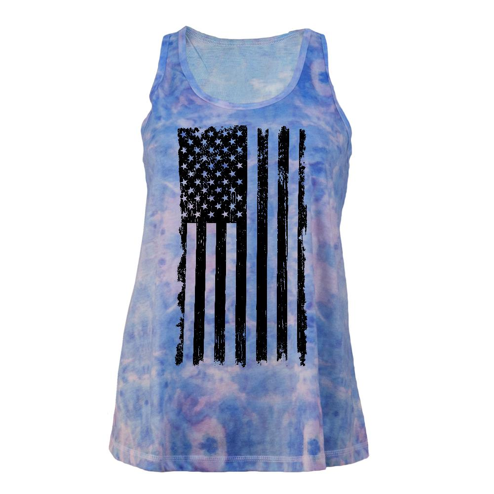 july 4th distressed black and white vertical american flag juniors