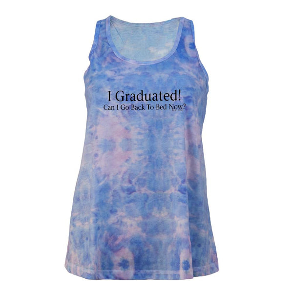 I Graduated Juniors Tie Dye Tank Top