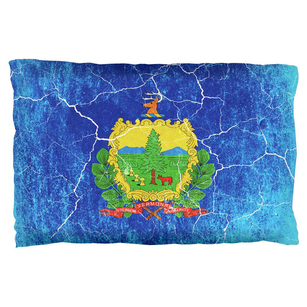 Vermont Vintage Distressed State Flag Pillow Case
