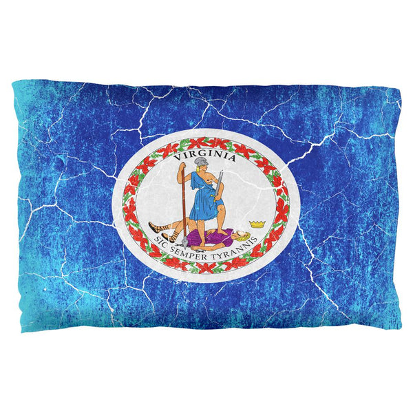 Virginia Vintage Distressed State Flag Pillow Case