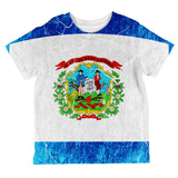 West Virginia Vintage Distressed State Flag All Over Toddler T Shirt