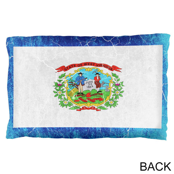 West Virginia Vintage Distressed State Flag Pillow Case