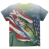 4th of July Always Be Yourself American Fishing All Over Youth T Shirt