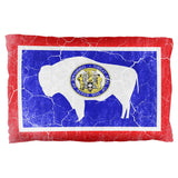 Wyoming Vintage Distressed State Flag Pillow Case