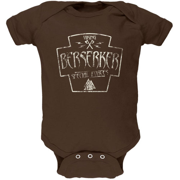 Berserker Viking Special Forces Retro Vintage Soft Baby One Piece