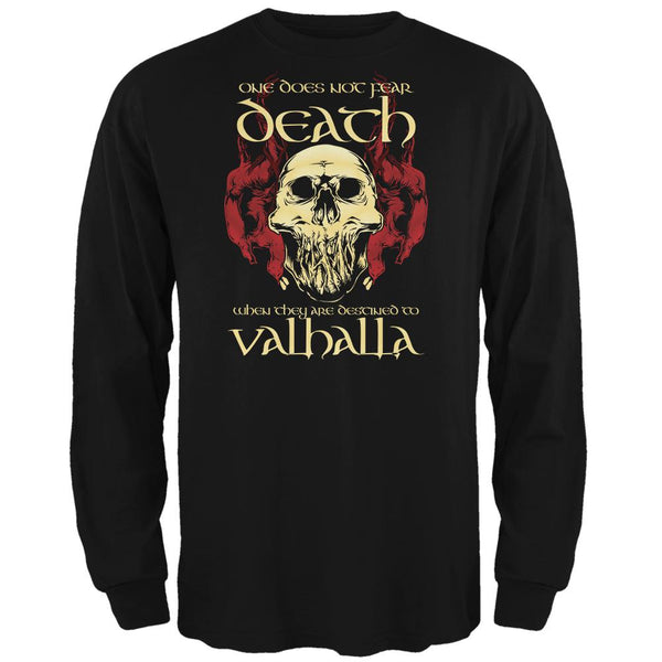 Viking Death Valhalla Mens Long Sleeve T Shirt