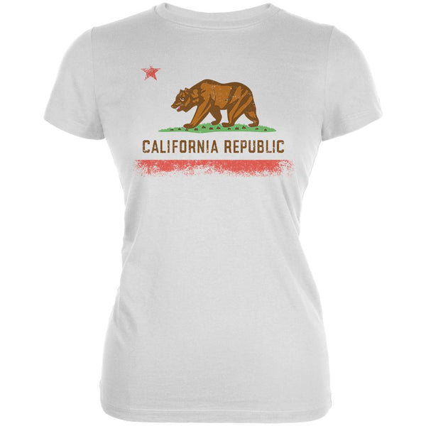 Born and Raised California State Flag Juniors Soft T Shirt