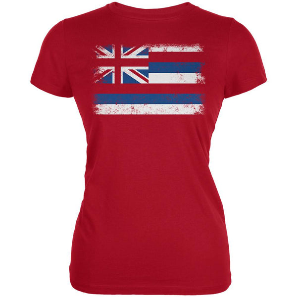 Born and Raised Hawaii State Flag Juniors Soft T Shirt