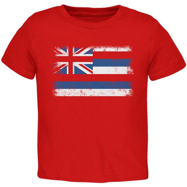 Born and Raised Hawaii State Flag Toddler T Shirt