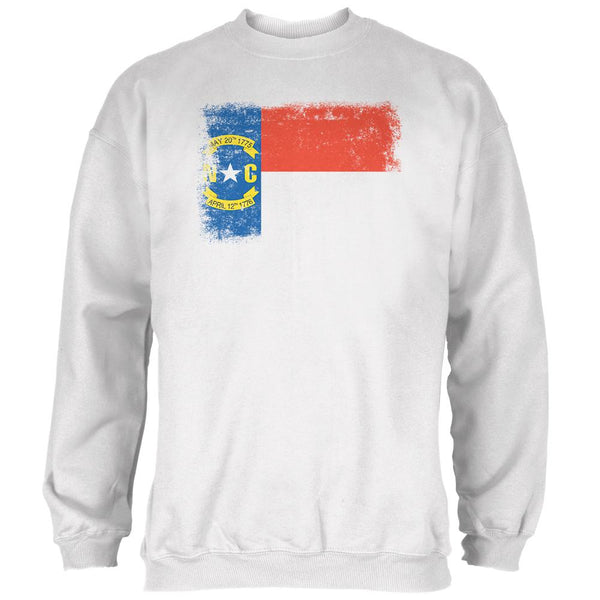 Born and Raised North Carolina State Flag Mens Sweatshirt
