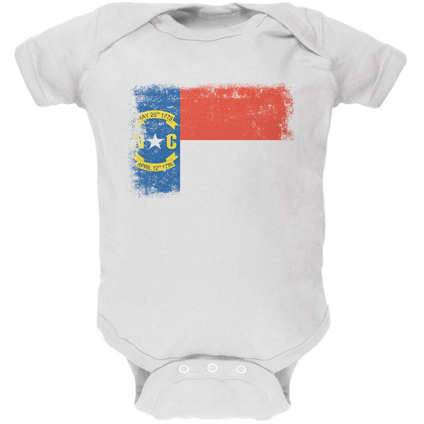 Born and Raised North Carolina State Flag Soft Baby One Piece