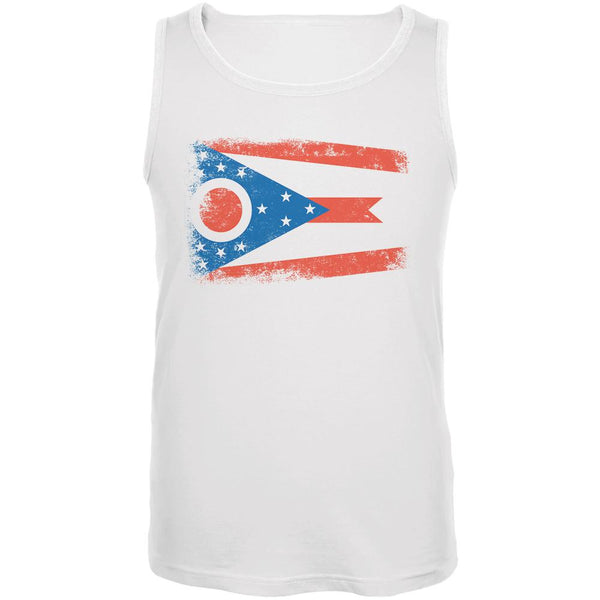 Born and Raised Ohio State Flag Mens Tank Top