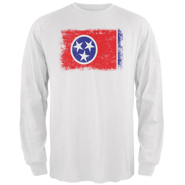 Born and Raised Tennessee State Flag Mens Long Sleeve T Shirt