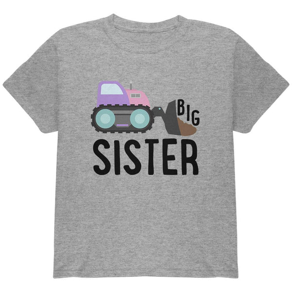 Big Sister Construction Truck Digger Youth T Shirt