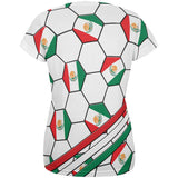 World Cup Mexico Soccer Ball All Over Womens T Shirt