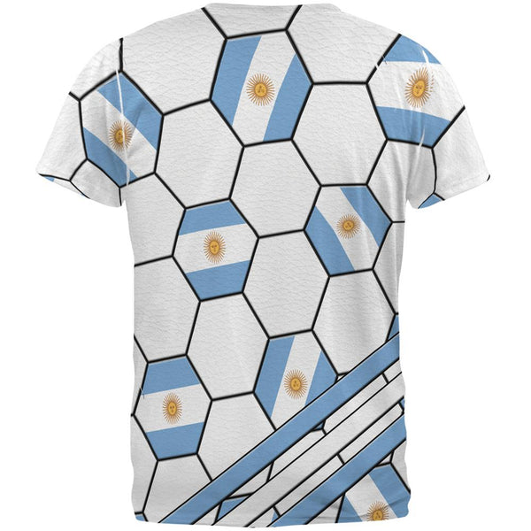 World Cup Argentina Soccer Ball All Over Mens T Shirt