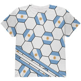World Cup Argentina Soccer Ball All Over Youth T Shirt
