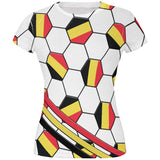 World Cup Belgium Soccer Ball All Over Juniors T Shirt