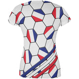 World Cup France Soccer Ball All Over Juniors T Shirt