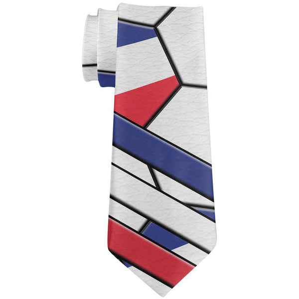 World Cup France Soccer Ball All Over Neck Tie