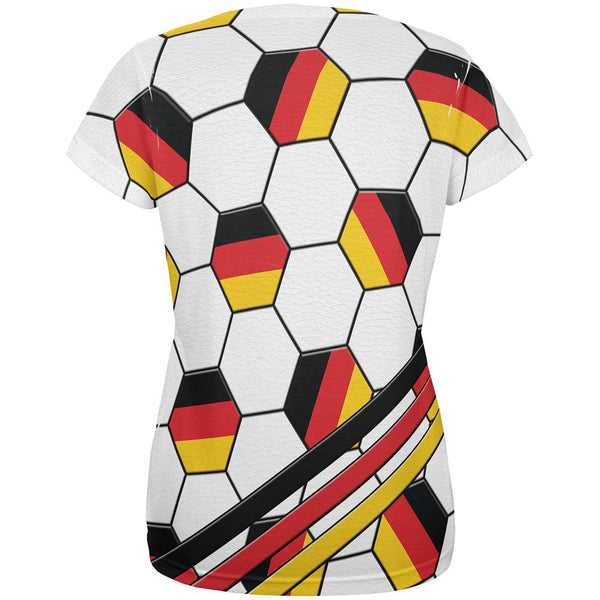 World Cup Germany Soccer Ball All Over Womens T Shirt