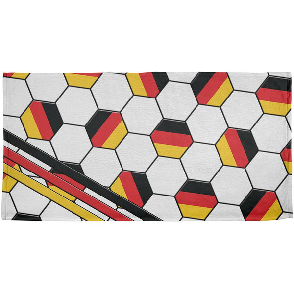 World Cup Germany Soccer Ball All Over Beach Towel