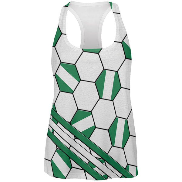 World Cup Nigeria Soccer Ball All Over Womens Work Out Tank Top