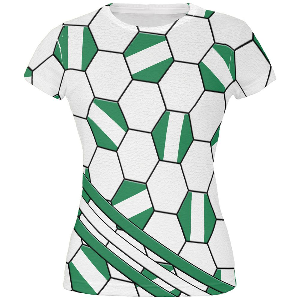cheap for discount 5775c 5138b World Cup Nigeria Soccer Ball All Over Juniors T Shirt