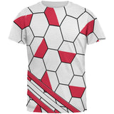 World Cup Poland Soccer Ball All Over Mens T Shirt
