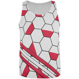 World Cup Poland Soccer Ball All Over Mens Tank Top