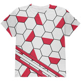 World Cup Poland Soccer Ball All Over Youth T Shirt
