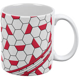 World Cup Poland Soccer Ball All Over Coffee Mug