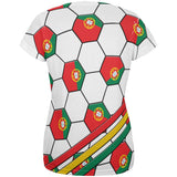 World Cup Portugal Soccer Ball All Over Womens T Shirt