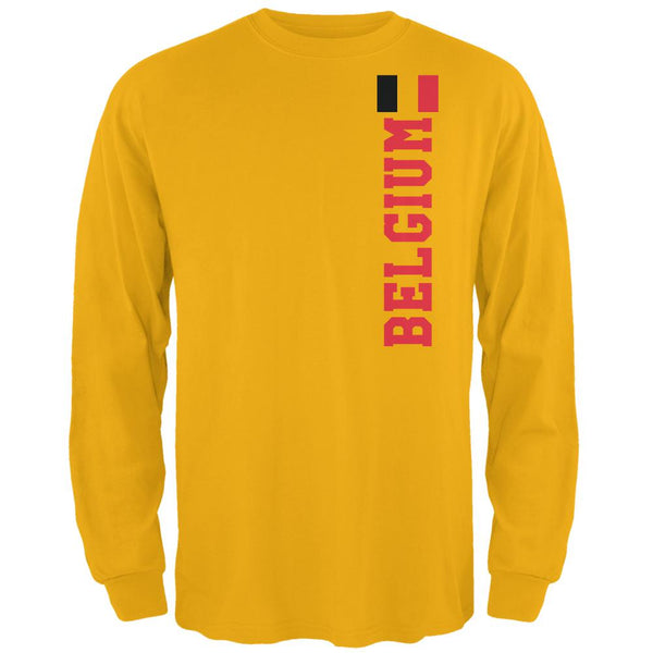 World Cup Belgium Mens Long Sleeve T Shirt