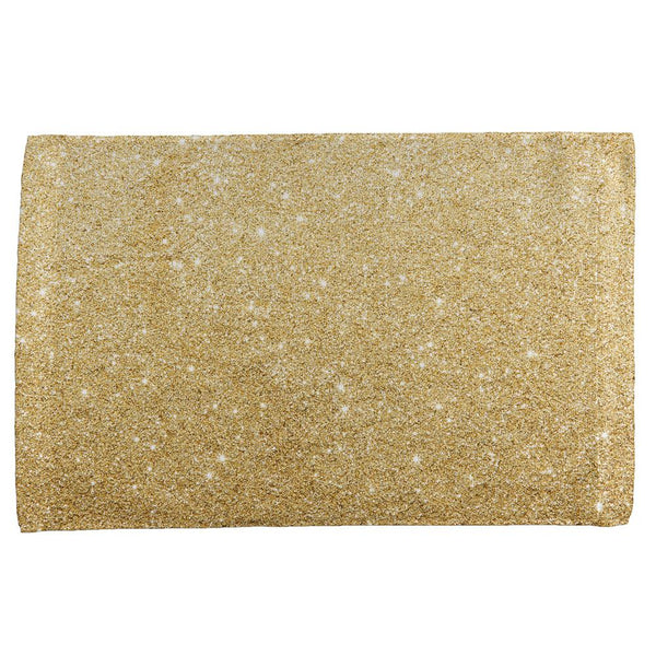 Faux Gold Glitter All Over Hand Towel