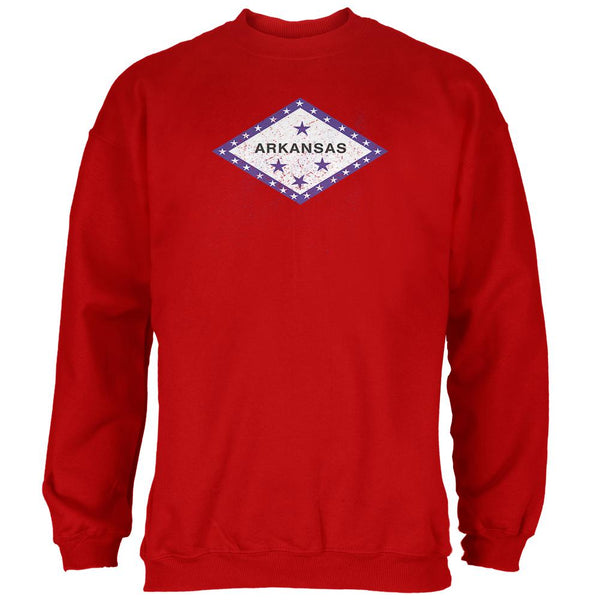 Born and Raised Arkansas State Flag Mens Sweatshirt