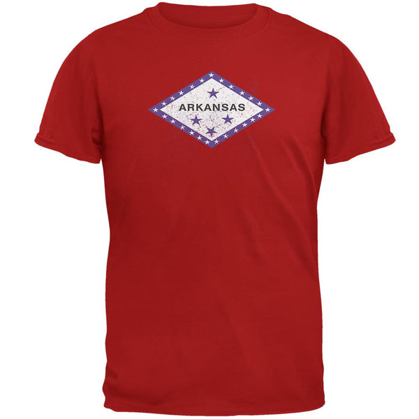 Born and Raised Arkansas State Flag Mens Soft T Shirt