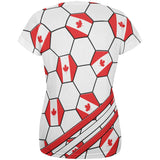 World Cup Canada Soccer Ball All Over Womens T Shirt